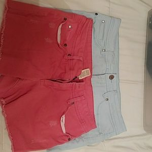 Red and blue shorts, a lot of 2 size 10